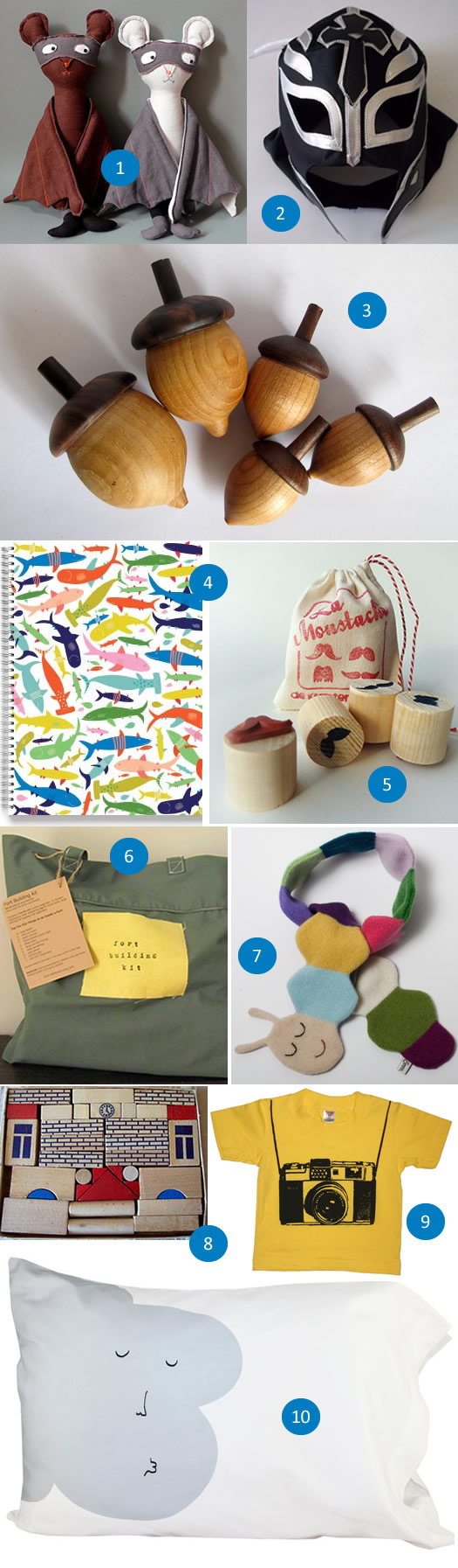 Handmade Holiday Gift Guide for Boys 2012 by Charlotte's Fancy