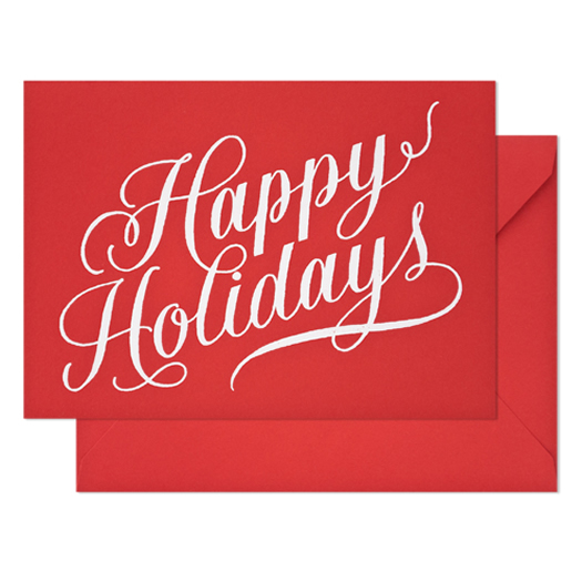 Happy Holidays in Red by Sugar Paper