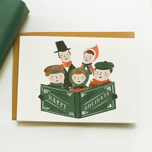 Holiday Carollers by Quill and Fox