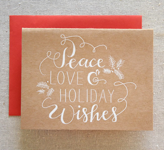 Peace Love and Holiday Wishes by Parrott Design Studio