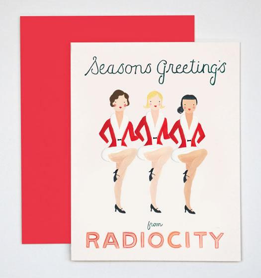 Radio City Rockettes cards by Rocket Ink