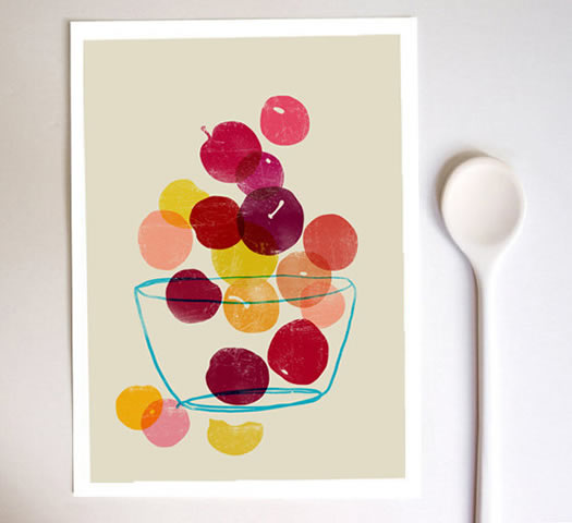 Summer fruits print by Anek