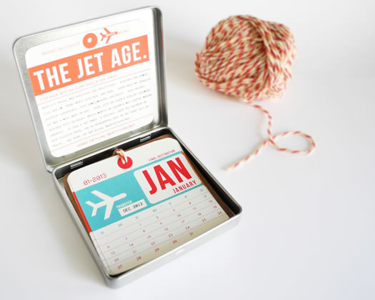 Vintage airline luggage tag calendar 2 by Girl N Gear