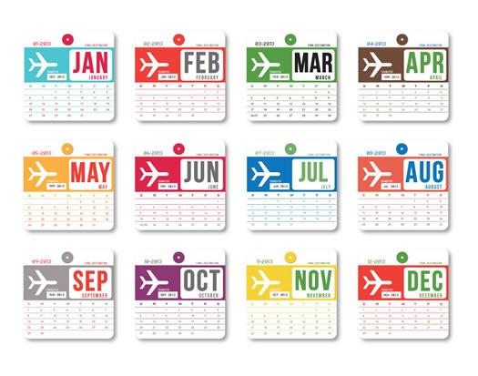 Vintage luggage tag calendar 3 by Girl n Gear