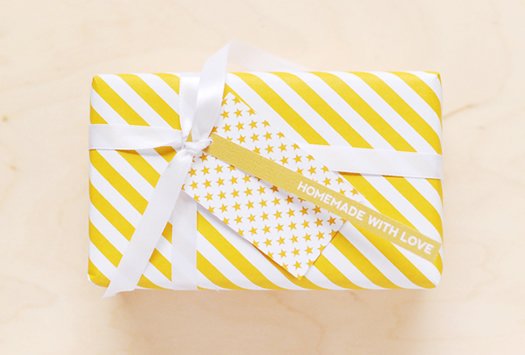 Yellow stripes wrapping paper by Hey Look
