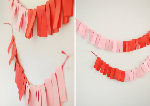 Color block garland by Project Wedding