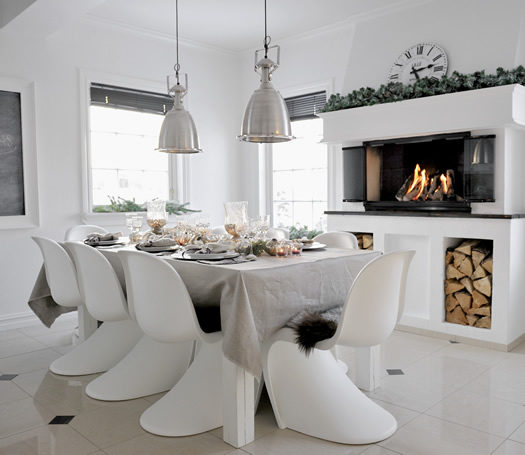 Cozy dinner table with Panton chairs photo by Francisca Munck-Johansen / House of Pictures