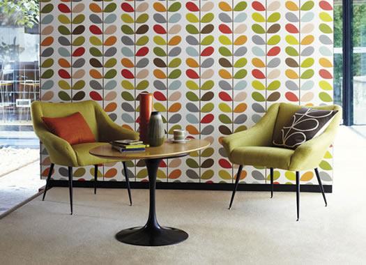 mid century modern backgrounds harlequin orla kiely wallpaper