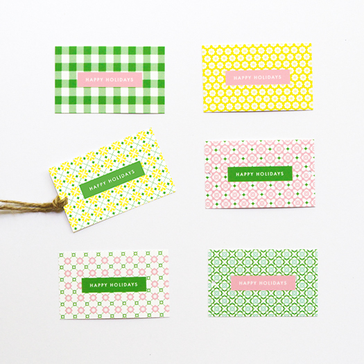 Holiday gift tags by Eat Drink Chic