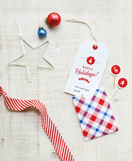 Holiday tag and pocket by Eat Drink Chic