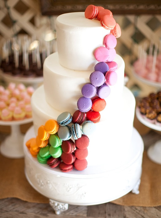 Macaron cake photo by Annie McElwain