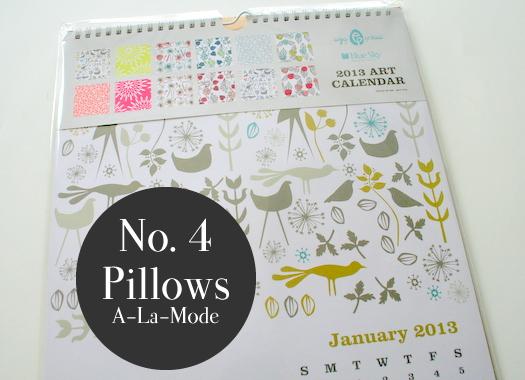 Art calendar winner pillows a la mode