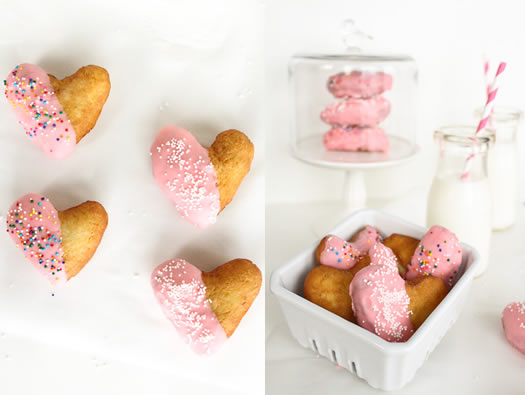 heart shaped donuts by Sugar and Cloth