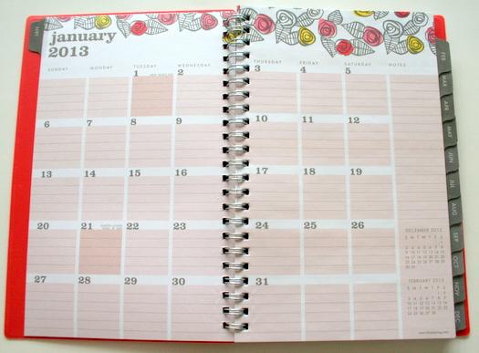 Egg Press roses planner in orange for Blue Sky