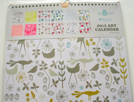 Egg Press art calendar for Blue Sky