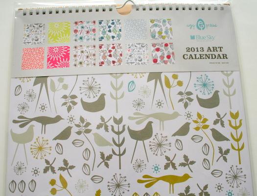 Egg Press art calendar for Blue Sky