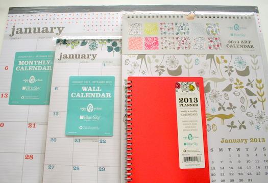 Egg Press and Blue Sky calendars