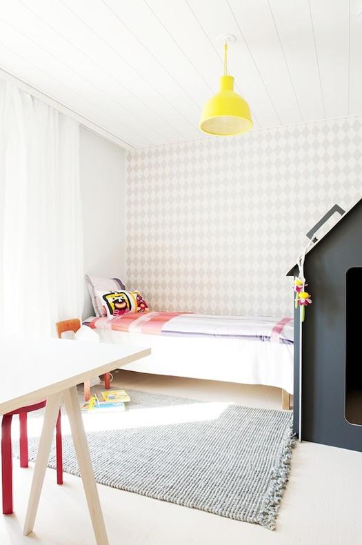 Minimalist bedroom via Scandinavian Deko
