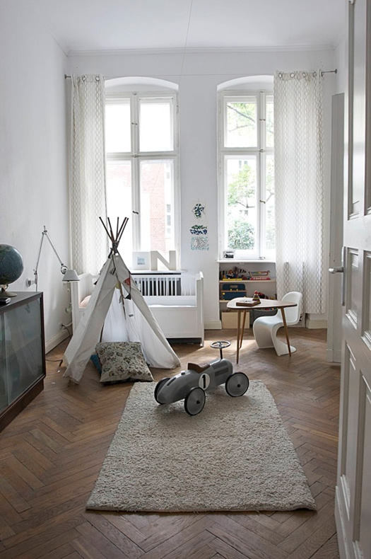 Natural children's bedroom in Berlin via Desire to Inspire