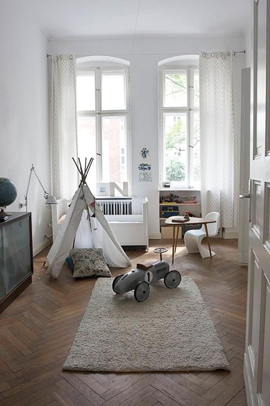 Natural children's bedroom in Berlin via Desire to Inspire