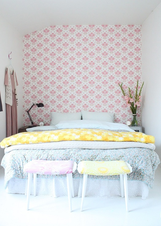 Pretty feminine bedroom