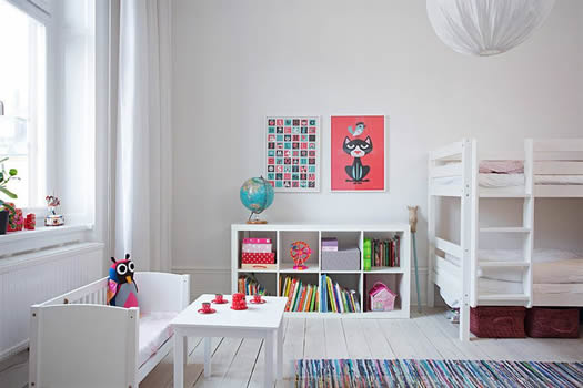 Swedish children's bedroom via Alexander White