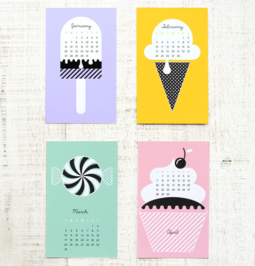 sweet 2013 printable calendar by Eat Drink Chic