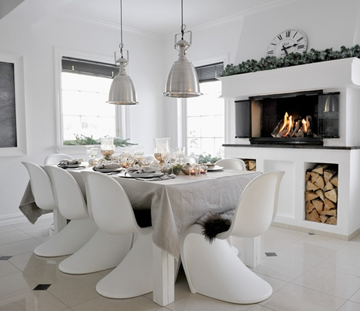 Cozy Norwegian dining room