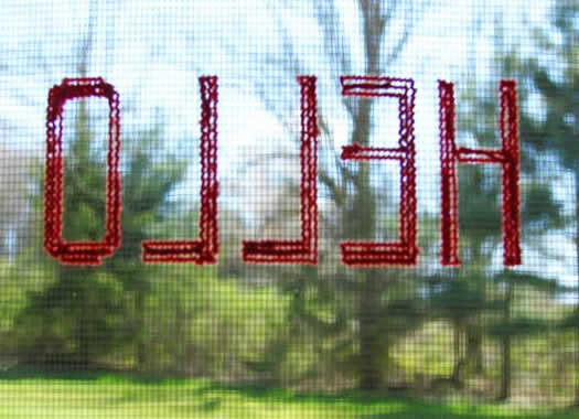 Embroidered screen by Aesthetic Outburst