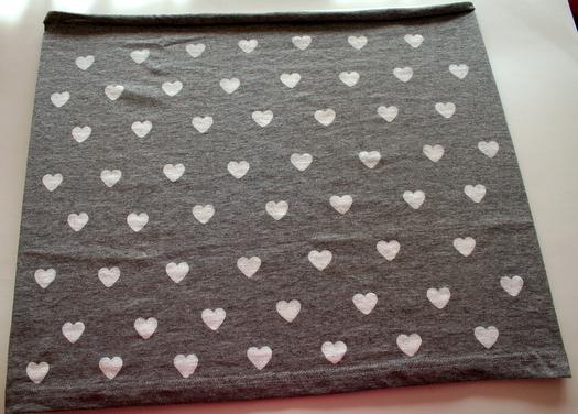 Gray Valentine's Scarf by Charlotte's Fancy